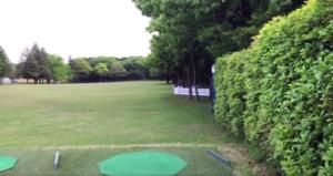 アジアパシフィック ダイヤモンドカップゴルフ初日の試合前練習風景