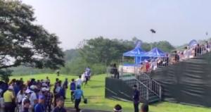 2019日本プロゴルフ選手権最終日の試合前練習風景