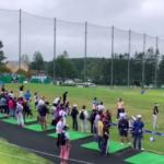 2019ANAオープン最終日の試合前練習風景